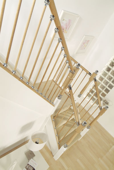 Axxys Oak with oak balusters