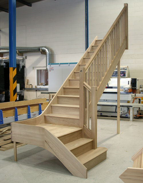 Oak Quarter landing Staircase