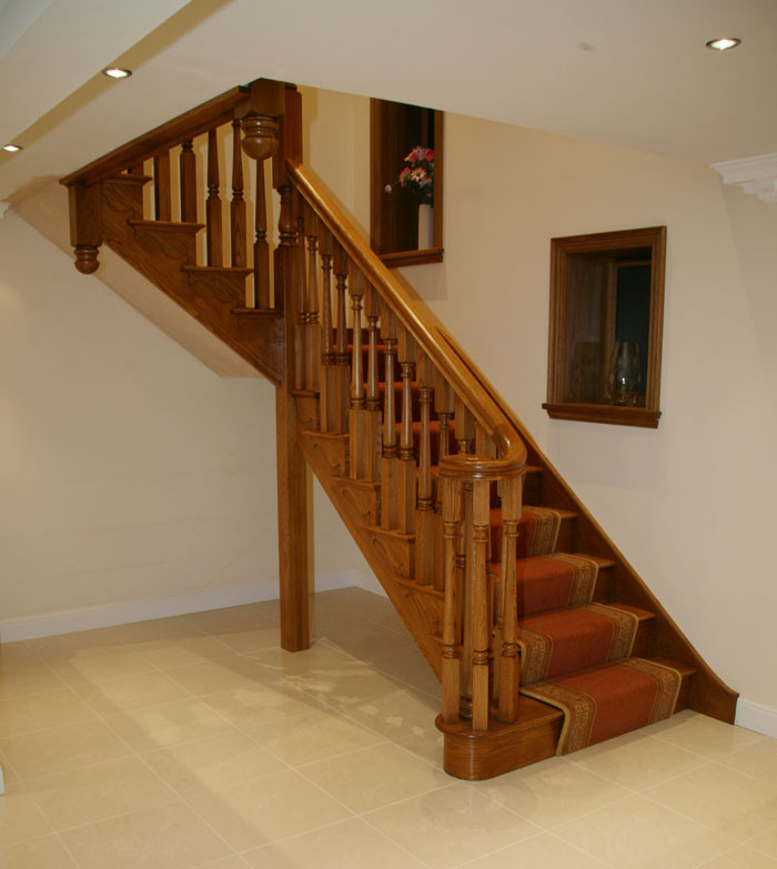 Brooklyn Oak Cut String Staircase