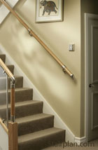Fusion Wall handrail Kits in Oak and Pine