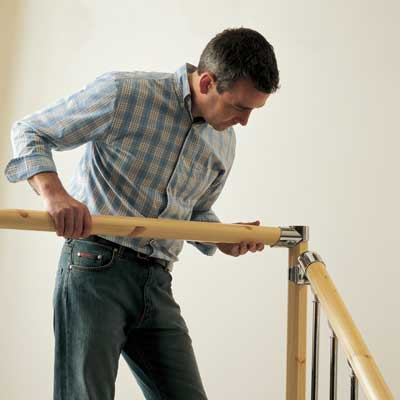 When the stair balustrading is complete begin fitting the landing balustrade.