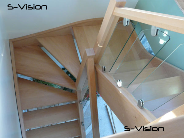 S-Vision Glass Rake Balustrade Panles
