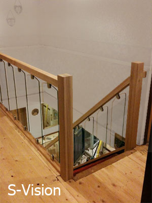 S-Vision glass Stair Balustrading