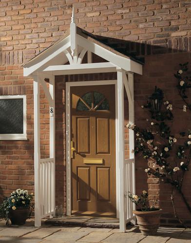 Wooden door canopy kits joy studio design gallery best for Side entrance porch designs