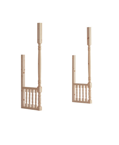 dwarf wall balustrade kit with turned spindles