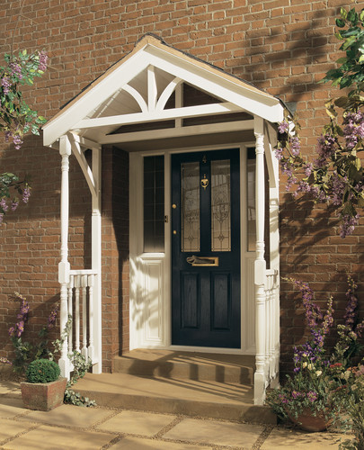 Wooden door canopy designs joy studio design gallery for Porch canopy plans